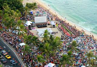 Red carpet and premier in Waikiki Beach